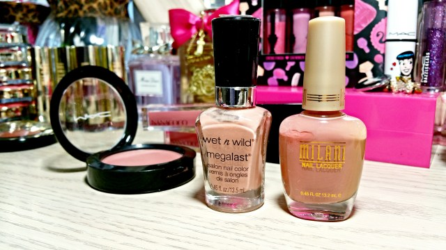 Wet n Wild Megalast Private Viewing, Milani Natural Touch Nail Lacquer