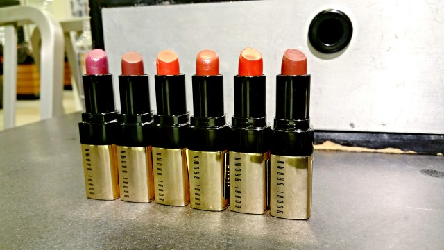 Bobbi Brown 15 Brocade, 16 Plum Brandy, 26 Retro Red, 27 Red Velvet, 28 Parisian Red, 30 Your Majesty Luxe Lip Color