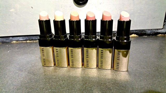 Bobbi Brown 1 Pink Nude, 4 Mod, 7 Pink Buff, 8 Soft Berry, 6 Neutral Rose, 14 Pink Cloud Luxe Lip Color