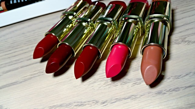 Milani Tuscan Toast, Brandy Berry, Velvet Merlot, Blushing Beauty Color Statement Lipstick