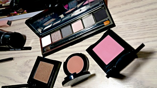 Bobbi Brown Cool Nudes Eye Palette, Burnt Sugar Metallic Eye Shadow, Medium Bronzing Powder, Desert Pink Blush