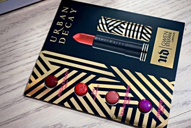 Urban Decay Gwen Stefani Firebird, Ex-Girlfriend, 714, Rock Steady Lipstick