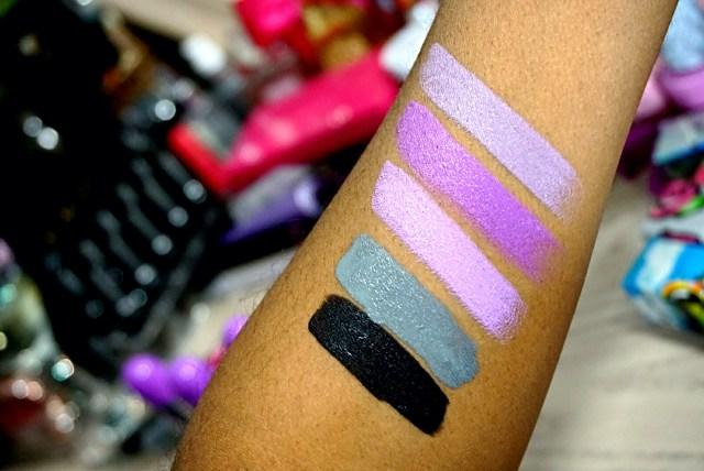 Lime Crime Black Velvet Velvetine, Cement Velvetine, D'Lilac Unicorn Lipstick, Airborne Unicorn Unicorn Lipstick, Chinchilla Unicorn Lipstick