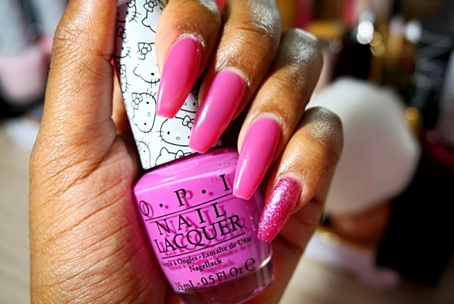 OPI Hello Kitty Collection in Super Cute in Pink + Starry-Eyed for Dear Daniel