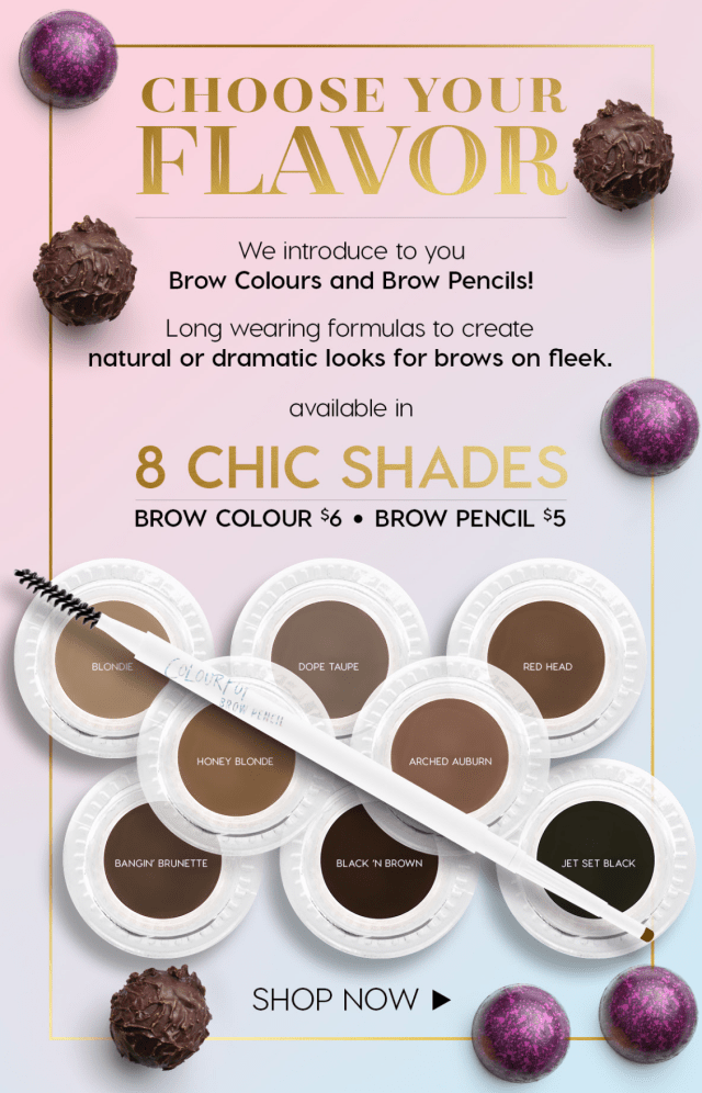 ColourPop Brow Colours + Brow Pencils Now Available!