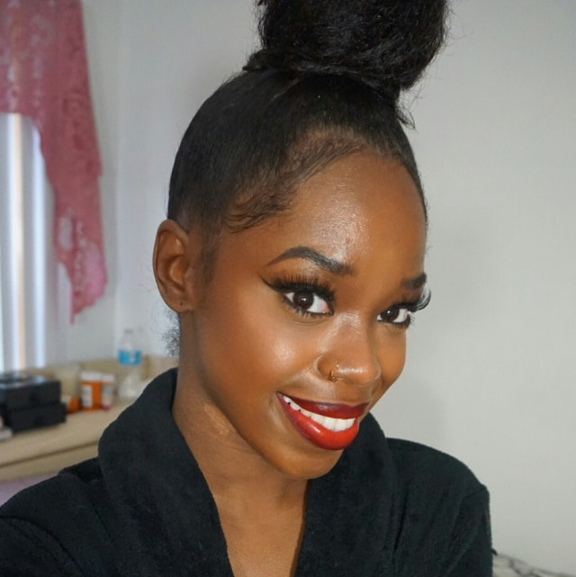 Glowing Glam in Red Makeup Look