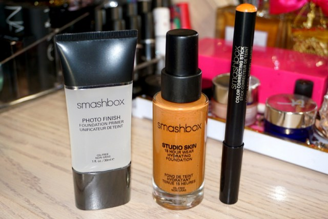 Smashbox Photo Finish Foundation Primer, Smashbox Studio Skin Foundation 4.2, Smashbox Color Correcting Stick Dark