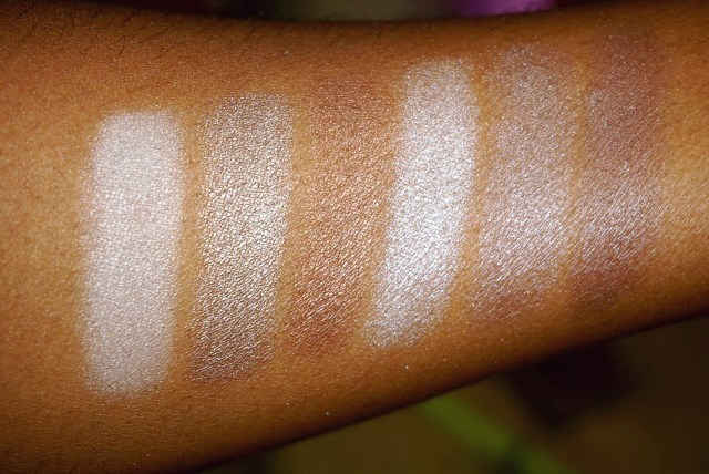 Essence All About Nudes Eyeshadow Palette 05 Chocolates Swatches on Dark Skin