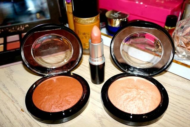 MAC Taraji Glow Mineralize Skinfinish, MAC Strip Me Down Lipstick, MAC Highlight the Truth Mineralize Skinfinish