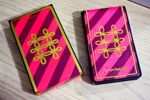 MAC Nutcracker Sweet Copper Compact Swatches on Dark Skin