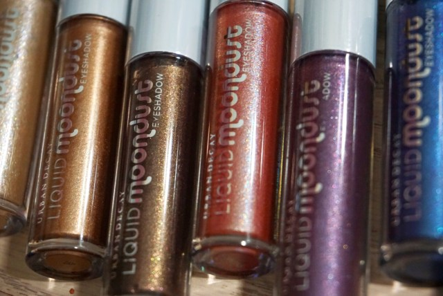 Urban Decay Liquid Moondust Eyeshadow Swatches on Dark Skin