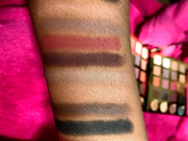 Tarte Tarteist Pro Palette Swatches on Dark Skin