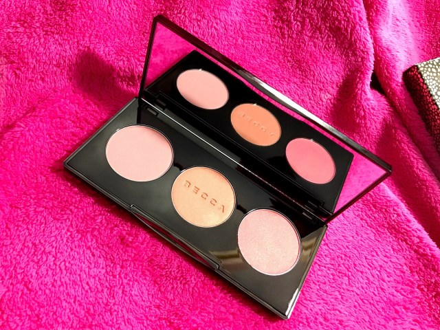 Becca Blushed with Light Palette Swatches on Dark Skin