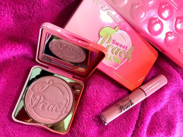 Too Faced Sweet Peach Papa Don't Peach Blush Swatches on Dark Skin