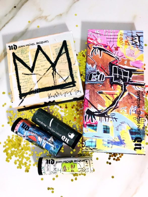 Urban Decay x Jean-Michael Basquiat Collection Swatches on Dark Skin