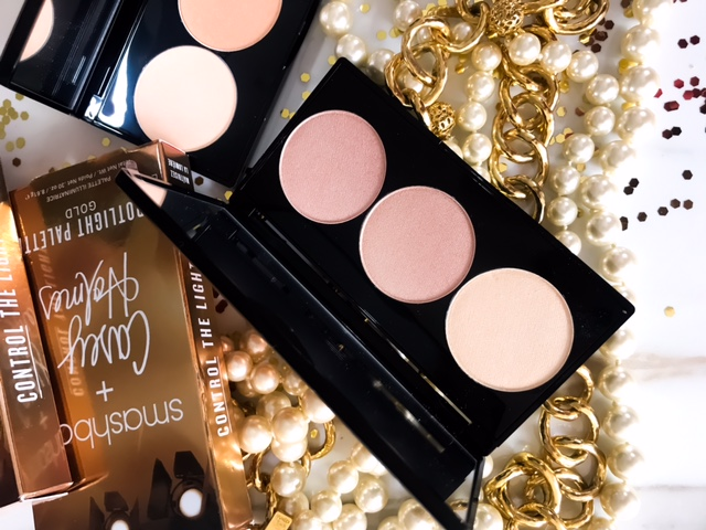 Smashbox x Casey Holmes Spotlight Highlight Palette in Pearl Swatches on Dark Skin