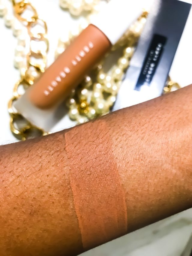 Fenty Beauty by Rihanna Pro Filt'r Soft Matte Foundation in 420 Swatches on Dark Skin