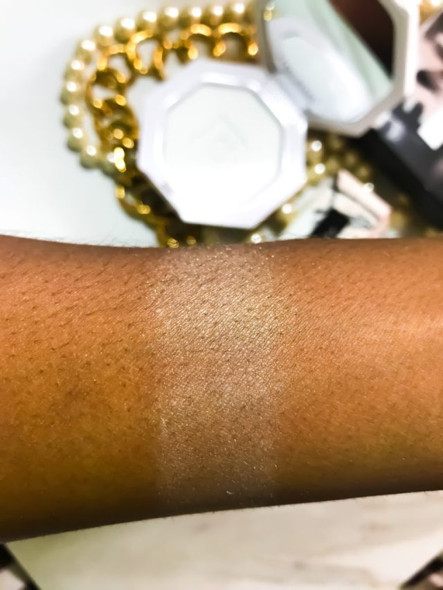 Fenty Beauty by Rihanna Killawatt Freestyle Highlighter in Metal Moon Swatches on Dark Skin