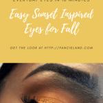 Easy Sunset Inspired Eyes for Fall on Dark Skin Black Women Brown Skin Women of Color WOC