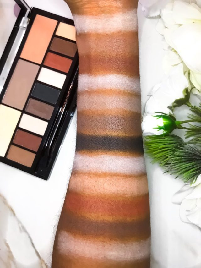Makeup Revolution Ultra Eye Contour Light + Shade Eyeshadow Palette Swatches on Dark Skin
