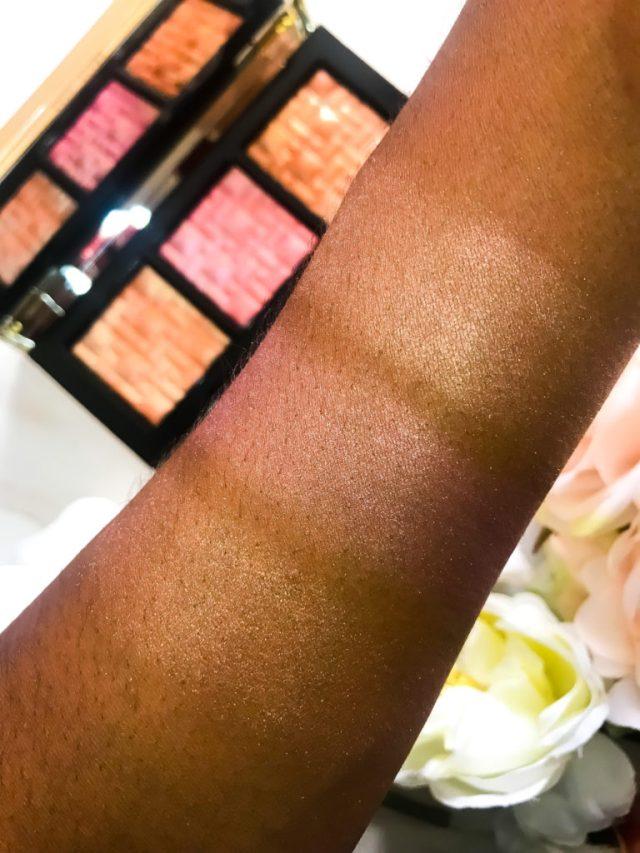 Bobbi Brown Bobbi to Glow Highlighting Powder Trio Swatches Review Dark Skin