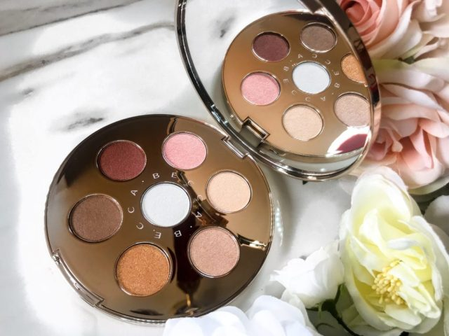 Becca Apre Ski Glow Collection Eye Lights Palette Swatches on Dark Skin