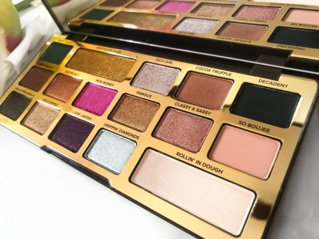 Too Faced Chocolate Gold Eyeshadow Palette Swatches on Dark Skin