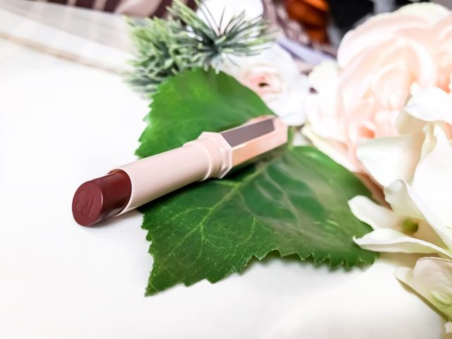 Fenty Beauty MatteMosielle Plush Matte Lipstick in PMS Swatches on Dark Skin