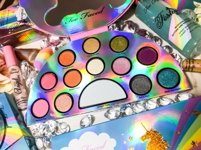 Too Faced Life's A Festival Eyeshadow Palette Swatches Review Dark Skin Brown Skin