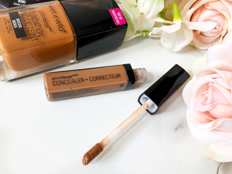Wet n Wild PhotoFocus Concealer in Dark Cocoa Swatches Review on Dark Skin