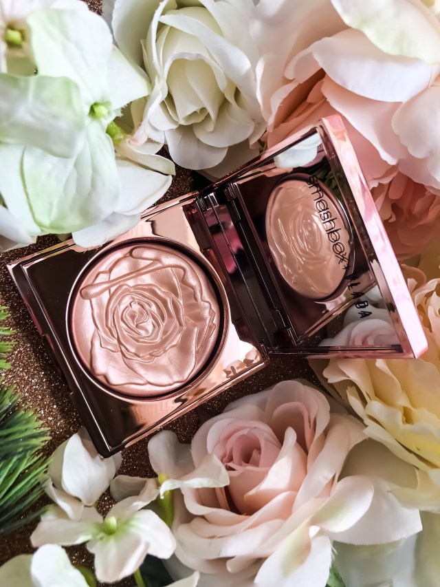 Smashbox x Vlada MUA Petal Metal Collection: Petal Metal Highlighter in Gilded Rose Swatches on Dark Skin