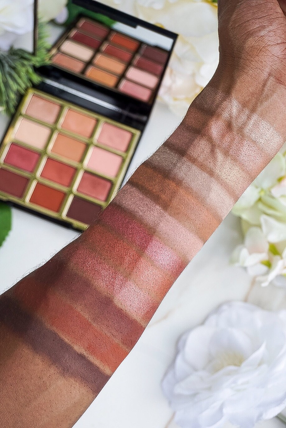 Milani Pure Passion Eyeshadow Palette Swatches on Dark Skin
