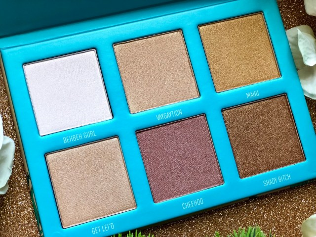 Morphe x Bretman Rock Babe In Paradise Highlight Palette Review Swatches on Dark Skin