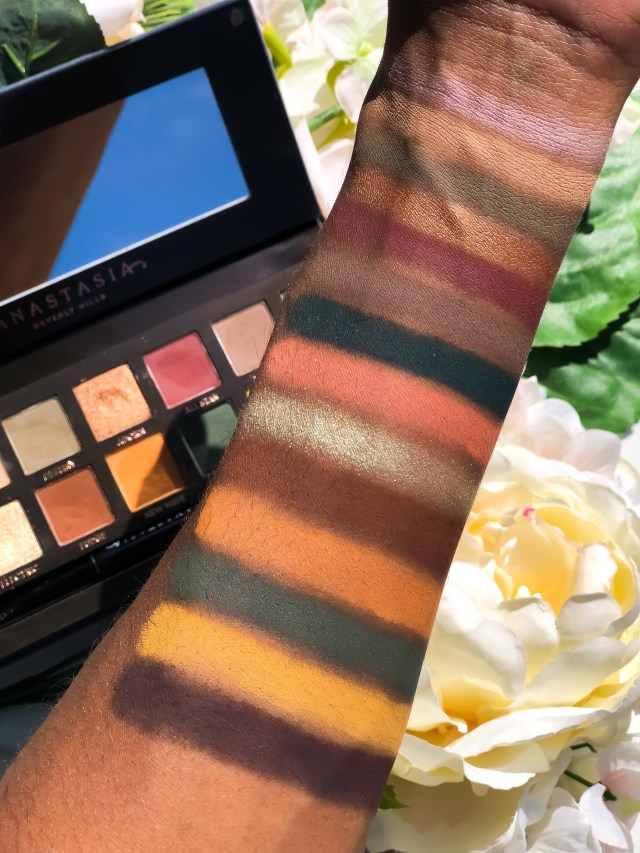 Anastasia Beverly Hills Subculture Palette Swatches on Dark Skin