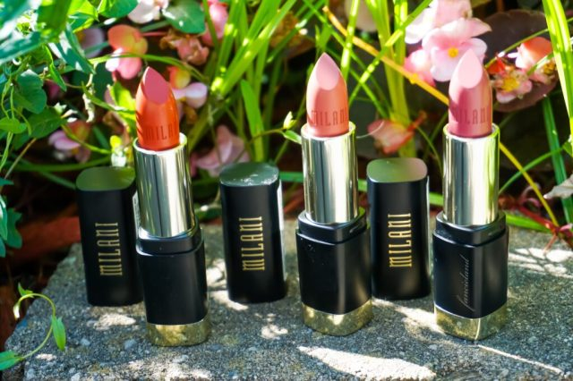 Milani Bold Matte Color Statement Lipstick Swatches On Dark Skin: I Am Fabulous, I Am Awesome, I Am Smart, I Am Pretty, I Am Worthy, I Am Radiant