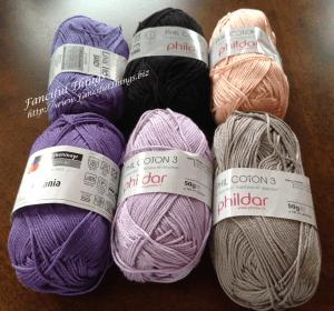 Philadar Phil Cotton 3 - 100% cotton fingering weight yarn