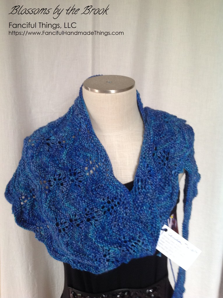 Blossoms by the Brook Shawl