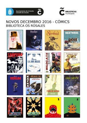 Cómics novos na Biblioteca Os Rosales (cartel)