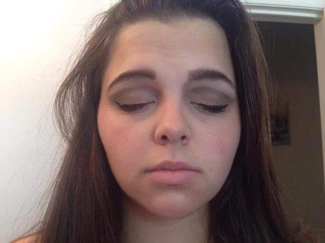 Round two of eye shadow with liner!