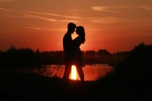 Romantic-Couple-Kissing-During-Dusk