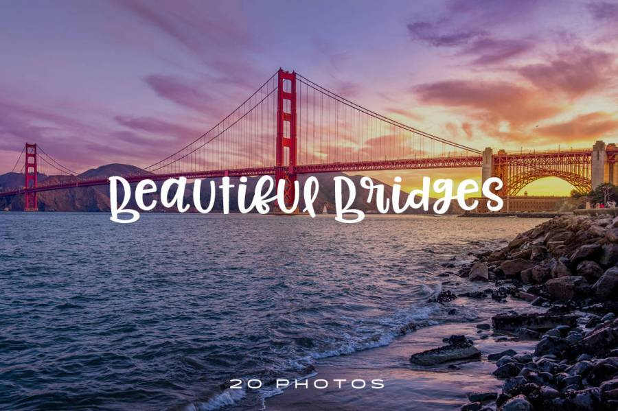 We selected some glorious photos of bridges for you to use in your creative projects. These photos are perfect for your current/future professional projects.