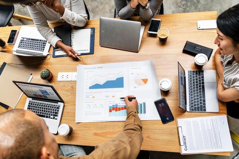 Digital-Marketing-team-going-over-ideas