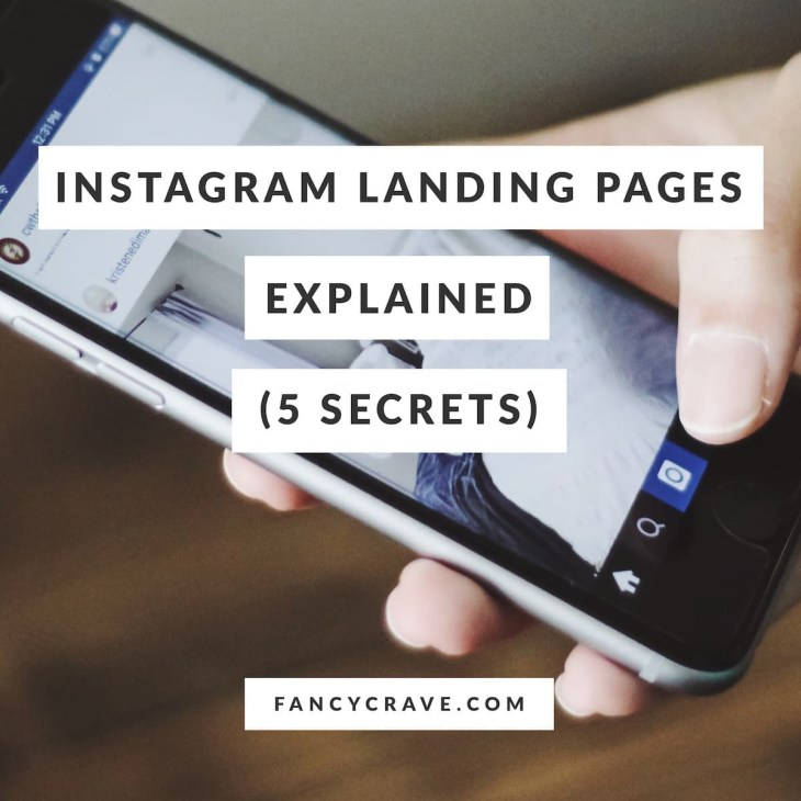 Instagram Landing Pages Explained