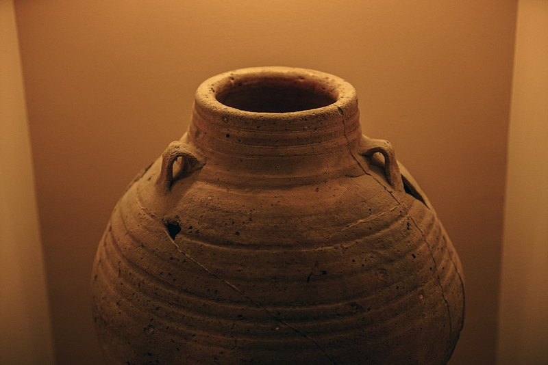 Ancient-Clay-Pot-with-Two-Very-Small-Handles