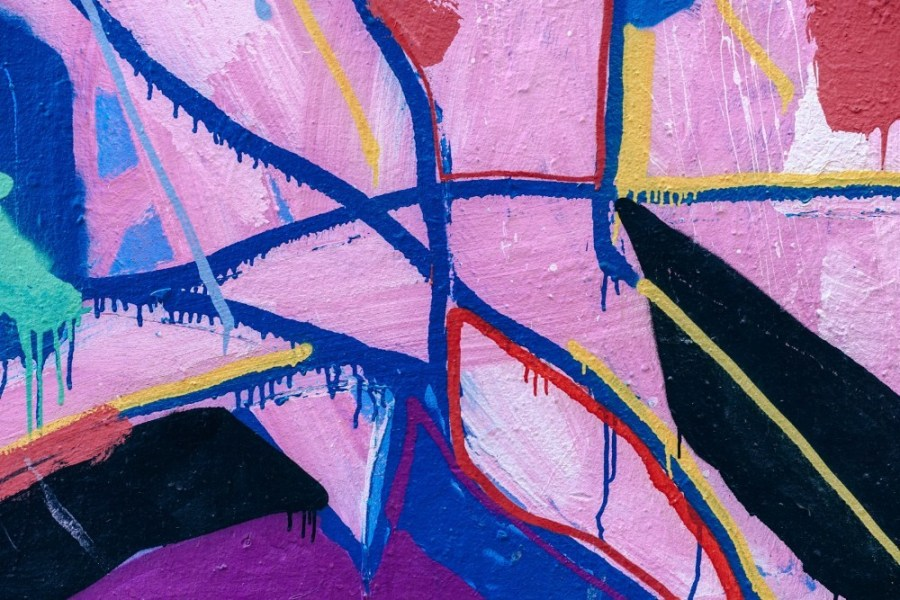 Close-up-Shot-of-Colorful-Graffiti-on-a-Wall-in-Barcelona