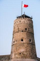 Dubai-Flag-at-the-Al-Fahidi-Fort-the-Oldest-Building-in-Dubai