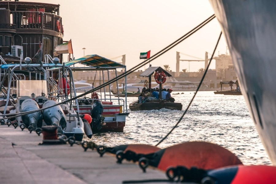 Passenger-Boat-Floating-Down-the-Dubai-Canal