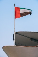 The-UAE-Flag-on-the-Dock-of-a-Boat