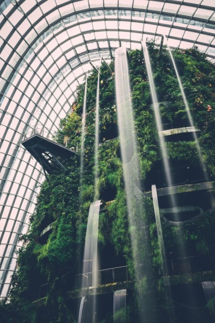 Waterfalls-at-the-Singapore-Cloud-Forest-Conservatory