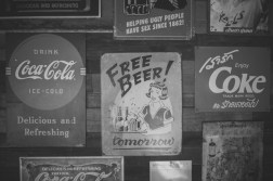 Black-and-White-Photography-of-Vintage-Drink-Posters